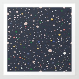 Spots of colour Art Print