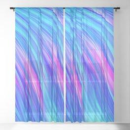 Waterfall,  abstract Sheer Curtain