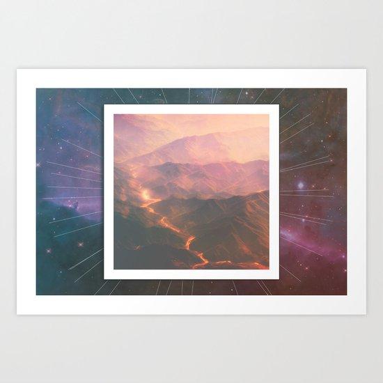 Volcanoes  Art Print
