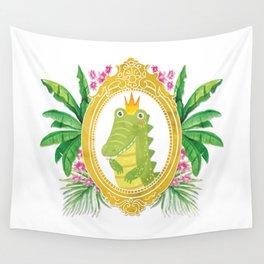 Royal Gator Wall Tapestry