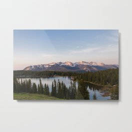 Sunrise Over Lake Irwin Metal Print