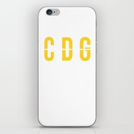 CDG - Charles de Gaulle Airport Paris France Airport Code Souvenir or Gift Design  iPhone Skin