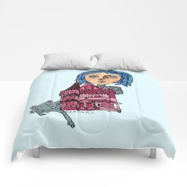 Coraline and Kitty Comforters