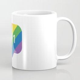 Instagram LGBTQ Heart Notification Coffee Mug