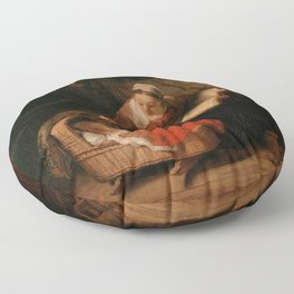 Holy Family with Angels Floor Pillow