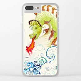 A happy dragon Clear iPhone Case