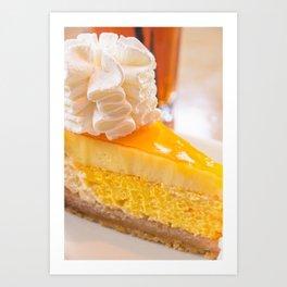 Cheesecake #food #dessert #sweets Art Print