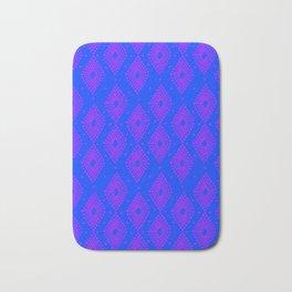 Mudcloth Dotty Diamonds in Neon Purple + Cobalt Bath Mat
