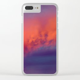 Floating Caterpillar in the Sky Clear iPhone Case