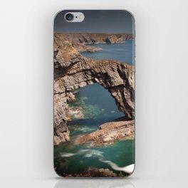 The Green Bridge of Wales iPhone Skin