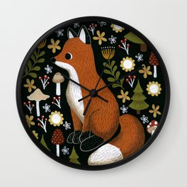 hello fox Wall Clock
