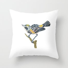 Myrtle Finch Throw Pillow