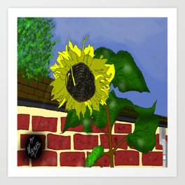 Thee Sunflower by Mgyver Art Print
