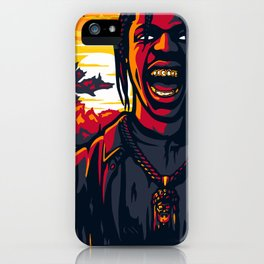 Back in La Flame iPhone Case