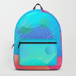 Pink And Blue Abstract Design Backpack