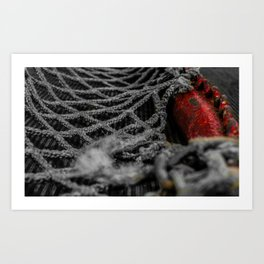 Hockey Net Art Print