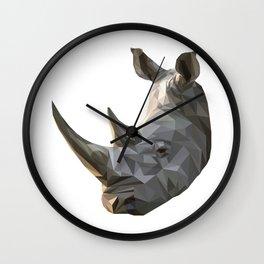 Low poly Rhinocerous Wall Clock
