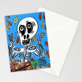 Sherman T. Skully in Autumn Stationery Cards