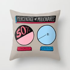 Millionaires Throw Pillow