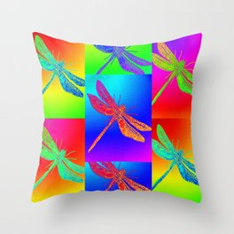 Flying colour Throw Pillow