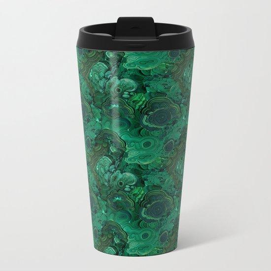 malachite Metal Travel Mug