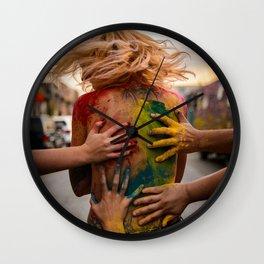 Festival of Colors Wall Clock