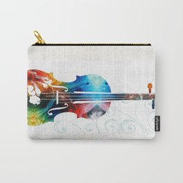 Colorful Violin Art by Sharon Cummings Carry-All Pouch