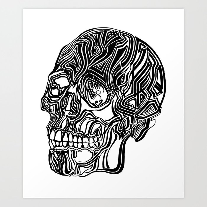 Death Mask No1 Art Print