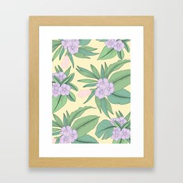 Jungle Daydream Purple Floral Print Framed Art Print