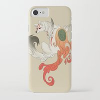 okami iPhone & iPod Cases featuring Okami Amaterasu  by Ectoimp