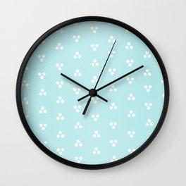 Light Blue Dot Trio Pattern Wall Clock