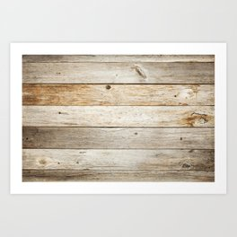 Rustic Barn Board Wood Plank Texture Art Print