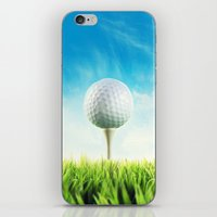 golf iPhone & iPod Skins featuring GOLF by Ylenia Pizzetti