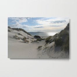 Sand dunes on Berneray. The Outer Hebrides, Scotland. Metal Print