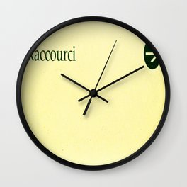 Shortcut in french Wall Clock