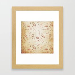 Wizard vintage pattern Framed Art Print