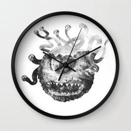 Beholder (Black & White) Wall Clock