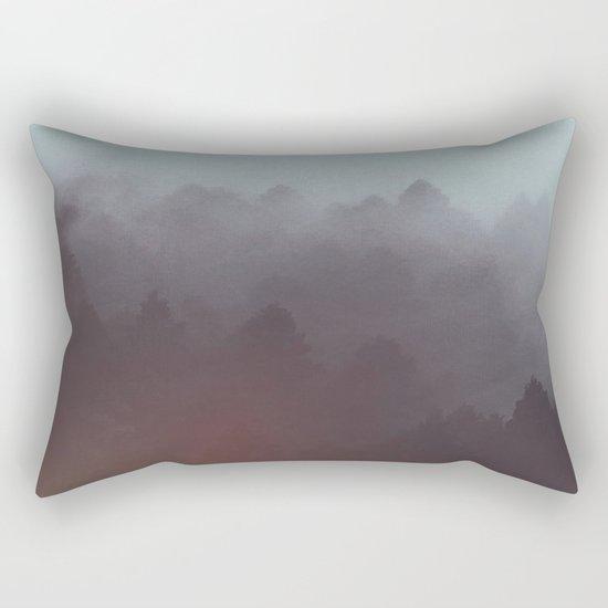 Watercolor Fog Rectangular Pillow