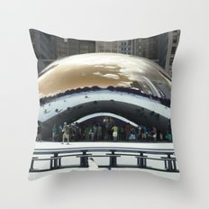 bean to cloud-gate recently? Throw Pillow