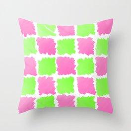 pink&green Throw Pillow