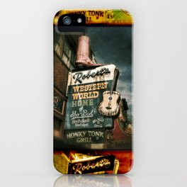 Honky Tonk Grill iPhone Case