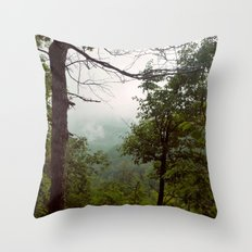 Smoky Mountains Tennessee Tree Color Photograph Throw Pillow