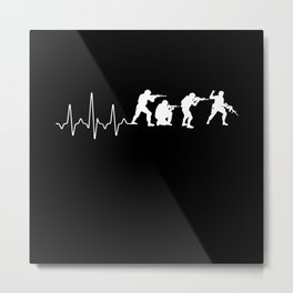 Soldier Heartbeat Metal Print