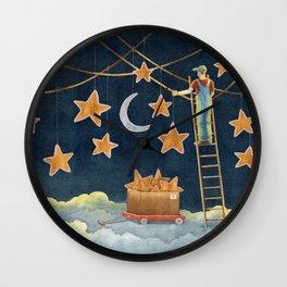 Night janitor Wall Clock