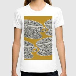Morning Cuppa! - tea coffee lover zentangle T-shirt