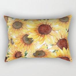 Sunflowers Bloom  Rectangular Pillow