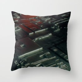Abstract circuit motherboard Throw Pillow