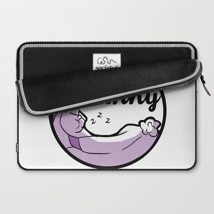 Sleepy Bunny Logo Laptop Sleeve