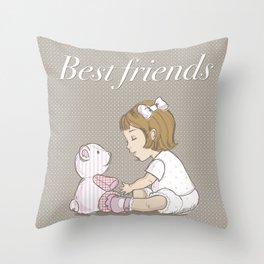 best friends v3 Throw Pillow