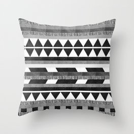 DG Aztec No.1 Monotone Throw Pillow